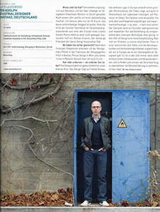 "Interview with Sven Adolph in ""Hochparterre"" Magazine"